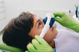a young boy at a houston sedation dentist